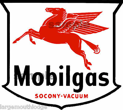 Mobil Gas Oil Decal 2X2.25 Pegasus Horse Vintage Style
