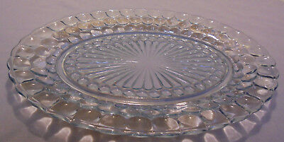 "Bubble By Anchor Hocking, Blue Bubble Oval Platter, 12""x9"", 1"" Tall Vintage"