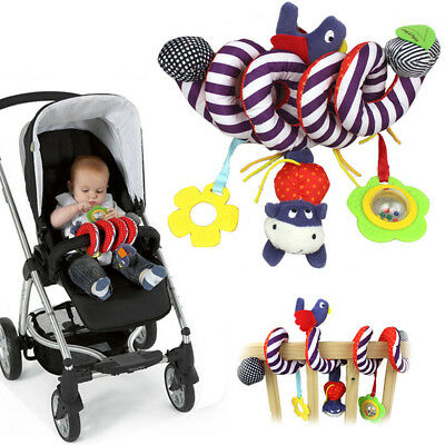 Kid Baby Spiral Cot Activity Hanging Musical Play Toy for Car Seat/Pram/Stroller