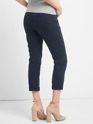 Gap Black Full Panel Maternity Best Girfriend Chino Pants-Size 4- NWT