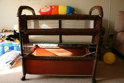 Arm's Reach Concepts Clear-Vue Co-Sleeper, Cocoa/Fern (Open Box - New)!