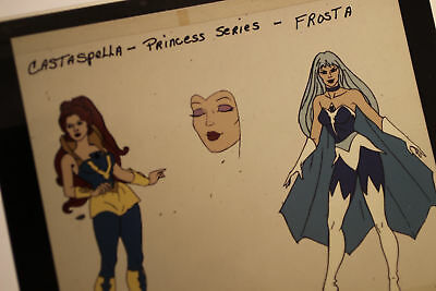 "She-Ra Character Model Castaspella & Frosta Transparency 4"" x 5"" w/ orig sleeve"