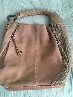 514d492423 NWT HALSTON HERITAGE Fashion Pleat Hobo shoulder bag Sand Leather ...