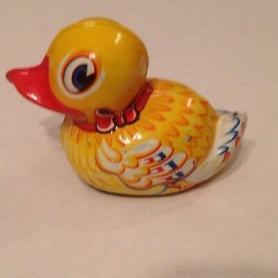 LEHMANN PAAK 903 TIN LITHO FRICTION Waddling DUCK Made In Germany Approx 3.25""