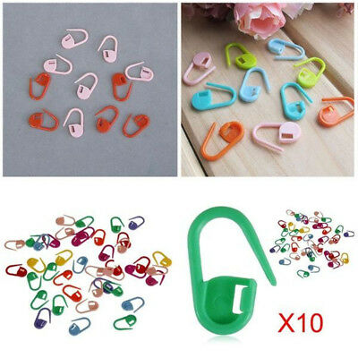 30x Knitting Craft Tool Crochet Stitch Marker Clip Holer Locking Pin Mixed Color