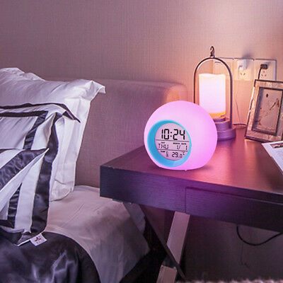 Quartz Alarm Clock Table Desktop Stand/Glowing LED Change Digital Alarm Clock HY