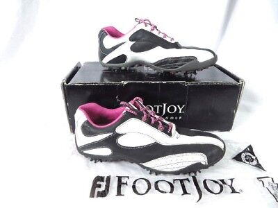 NEW WOMENS FOOTJOY FJ Lopro Golf Shoes 97239 White   Black Size 10 M ... 3ffe0f4c14b