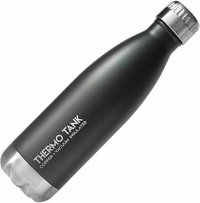 Thermo Tank Insulated Stainless Steel Water Bottle - Ice Cold 36 Hours! Vacuum +