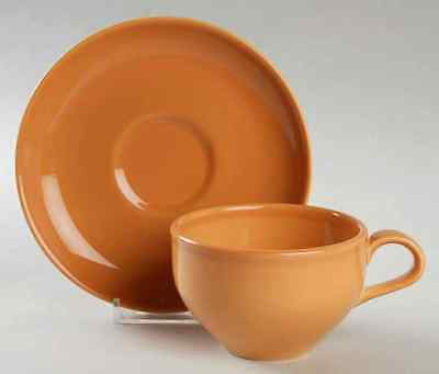 Iroquois Russel Wright CASUAL CANTALOUPE Cup & Saucer 6302046