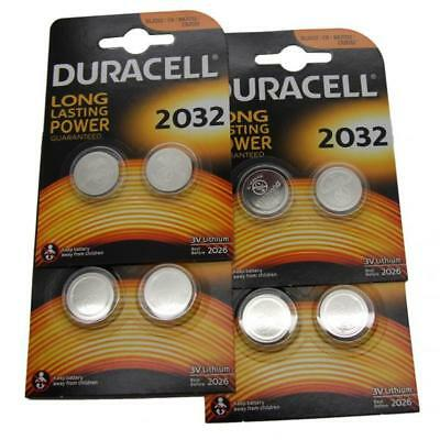 8x Duracell CR2032 3V Lithium Button Battery Coin Cell DL/CR/BR 2032 Expiry 2026