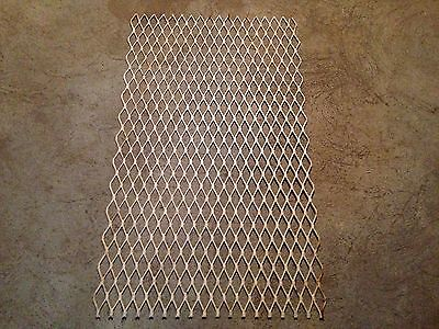 1930's Architectural Salvaged Iron Grate Grille Panel