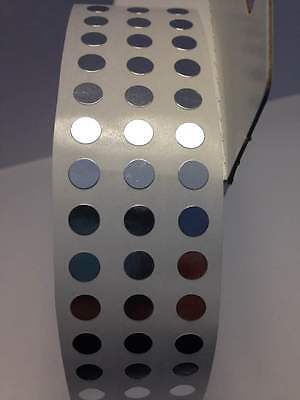 """SILVER 1/4"""" (6mm) SELFADHESIVE Round Coding Inventory Labels Dots Stickers"""