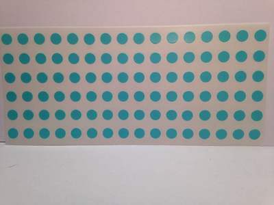 """LIGHT BLUE SELF ADHESIVE 1/4"""" (6mm) Round Coding Inventory Labels Dots Stickers"""