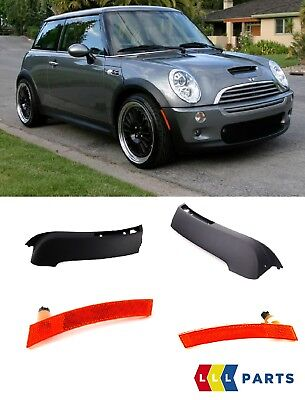 Mini New Genuine R53 Usa  Front Bumper Outer Plastic Trim Pair With Reflectors