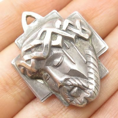 Vtg Theda 925 Sterling Silver Jesus Crown of Thorns Religious Cross Pendant