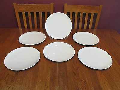 6 Lovely Rosenthal Continental China Germany Classic Modern White Dinner Plates