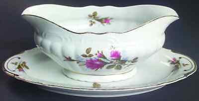 Fine China Of Japan ROYAL ROSE Gravy Boat & Underplate 4334839