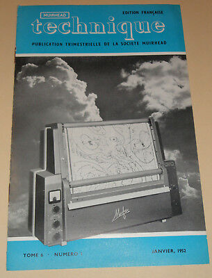 muirhead technique electronic tome 6 n°1 1952