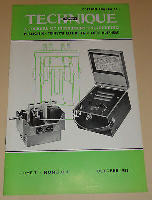 muirhead technique electronic tome 7  n°4 1954