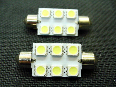 41mm Cool White Interior Courtesy Dome Light Bulbs LEDs Lamp Lens 65-95 Chevy