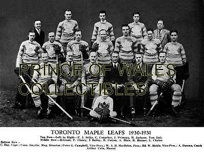 1931 Toronto Maple Leafs Team Photo 8X10