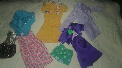 Vintage Barbie Doll Clothes Lot ~7 Piece mixed Set of Clothes~Priced for You  BB