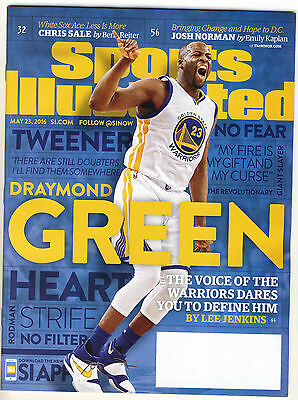 Sports Illustrated Magazine May 2016 Draymond Green Warrior is on the Cover