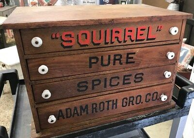 Vintage Spool Cabinet - Adam Roth Grocery Co (P014)