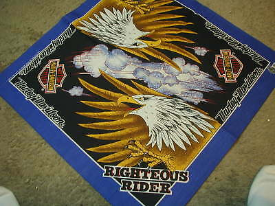 Motor Harley Davidson Bandana RIGHTEOUS RIDER New old stock<> LAST 1 THIS STYLE