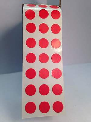 """RED SELF ADHESIVE 1/4"""" (6mm) Round Coding Inventory Labels Dots Stickers"""
