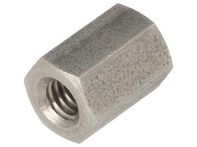 10x TFF-M4X10/DR146 Spacer sleeve Int.thread M4 10mm hexagonal stainless 146X10