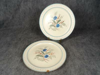 Stangl Blue Daisy Hand Painted Serving Plates Set Of 2