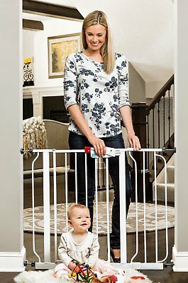 """Regalo Easy Step Walk Thru Gate, White, Fits Spaces between 29"""" and 39"""" Wide"""