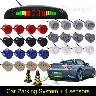 Car Parking Rear Reverse 4 Sensors Buzzer Radar LED Display Alarm System  YR