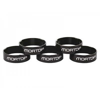 "SET OF 5 BLACK 10mm 1 1/8"" 28.6mm HEADSET SPACERS  FOR A-HEAD  HANDLEBAR STEMS"