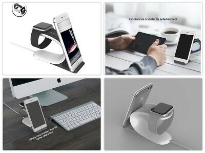 2-in1 Stand Smart Watch Night Stand Charging Holder for iPhone,iPad,Apple Watch