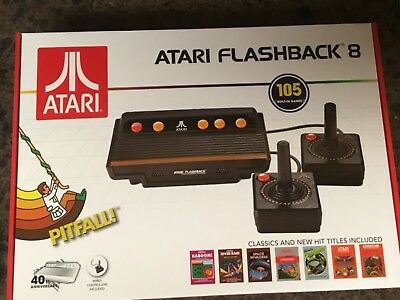NEW ATARI Flashback 8 Console, 105 Built In Classic Video Games 2 Controllers