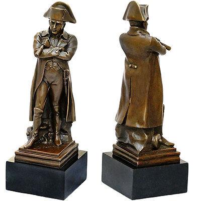 GRANDE NATION BRONZE STATUETTE NAPOLEON BONAPARTE MEMORIAL SKULPTUR SALON FIGUR