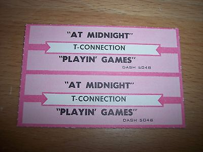 "2 T-Connection At Midnight Jukebox Title Strip CD 7"" 45RPM Records"