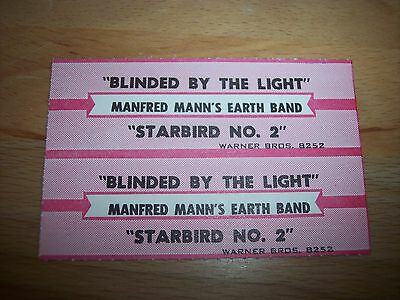 "2 Manfred Mann Blinded By The Light Jukebox Title Strip CD 7"" 45RPM Records"