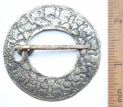 Ancient Old Ornament Bronze Fibula Brooch (NOW01)