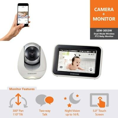 Samsung Wisenet SEW-3053WN BabyView Wi-Fi Remote Viewing Baby Video Monitoring S