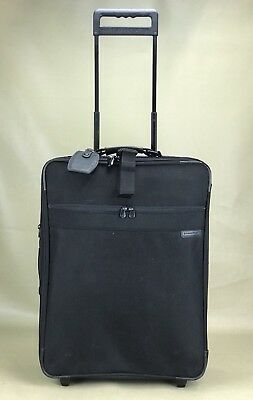 """Briggs & Riley Baseline Luggage - 24"""" Expandable Upright Suitcase in Black"""