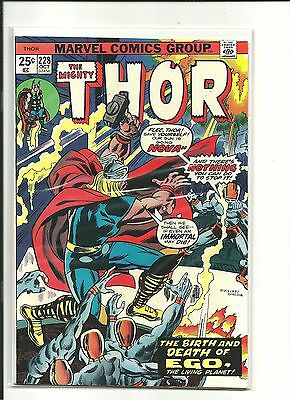 THOR #228 Marvel 1974  8.0 FIRELORD GLALCTUS DEATH OF EGO!!! GUARDIANS MOVIE