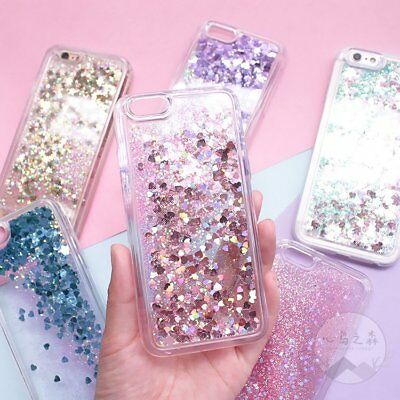 Liquid Glitter Water Stars Bling Sparkly Case Cover For Apple iPhone 6S 7 8 Plus
