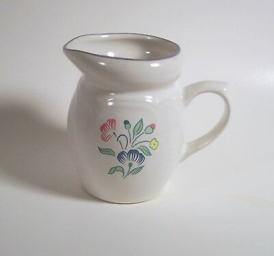 "Floral Expressions Cream Pitcher by Hearthside 4 1/4"" Made in Thailand Creamer"