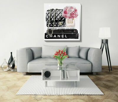 Bag Flower Fashion Stretched Canvas Print Framed Wall Art Home Office Decor Gift