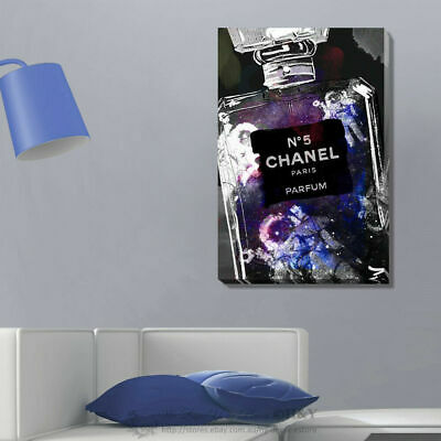 Fashion Perfume Stretched Canvas Print Framed Wall Art Hanging Home Office Decor