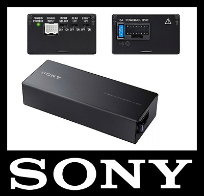 SONY XM-S400D 4-CHANNEL COMPACT CLASS  D AMP, 4x100W, EASY TO INSTALL, HI-INPUT