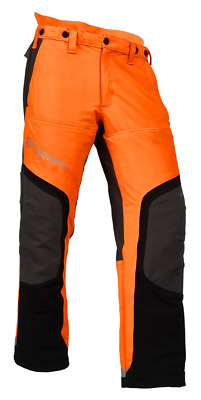 Husqvarna HI VIZ Technical Protective Pants Chain Saw Chainsaw Orange